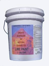 Mineral Life Intl Lime Paint 5 Gallons For Exterior
