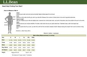 Ll Bean Size Chart Mens Ll Bean Size Chart Related Keywords Suggestions Ll Bean