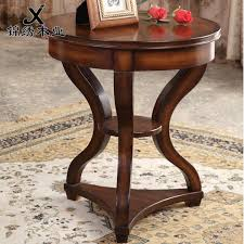 new arrival american casual solid wood side a few sofa side tables telephone coffee table round
