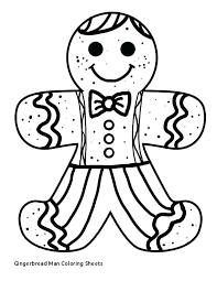 Coloring Pages Gingerbread Man Upcomingconcertsincalgaryinfo