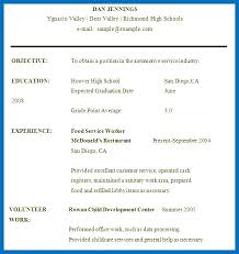 High School Resume For College Template Stunning Resume For High School Student With No Work Experience Are Examples