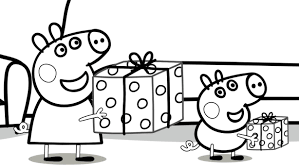 Peppa Pig Birthday Coloring Pages Printable For Kids 12 Page