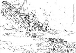 Small Picture Titanic Colouring Pages