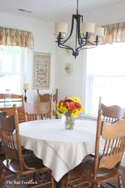 Round Kitchen Table Cloth The Red Feedsack A Farmhouse Tablecloth
