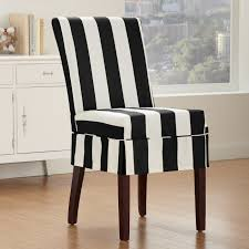sure fit white linen dining chair cover mixed black