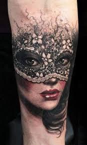 Tatuaggio Avambraccio Volto Donna Mascherato Tatuajes Tatuaggi