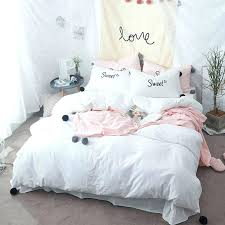 cute white bedding solid white bedding sets twin size queen king washed cotton cute decorated