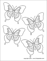 Wall cleaning robot coloring pagesuper coloring. Butterflies Free Printable Templates Coloring Pages Firstpalette Com