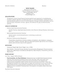 Retired Military Resume Examples