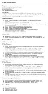 Pre Sales Consultant Resume Resume For Sales Consultant Manqal