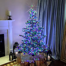 Pre Lit Christmas Tree With Colored And White Lights