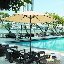 2018 8 ft patio umbrella aluminum crank tilt table market outdoor yard beach beige from xiangxing668 34 08 dhgate com