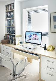 office study desk. Fitted Study Desk In White Surrounded By ASH Wood Office