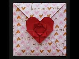 origami valentine s day card you
