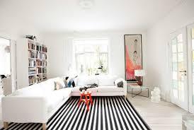 ikea black and white striped rug