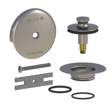 watco quicktrim lift and turn bathtub stopper and 1 hole overflow with 2 o