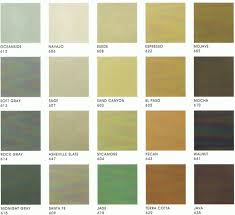 Behr Solid Color Weatherproofing Wood Stain Color Chart