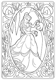 1000 plus free coloring pages for kids including disney movie coloring pictures and kids favorite cartoon characters. Disney Belle Pdf Coloring Pages Coloriage Disney Coloriage Princesse Disney Coloriage