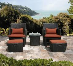 alluring patio chair with ottoman strata furniture patio chair and with patio chair with ottoman set