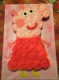 Peppa Pig Cupcake Cake Birthday Cake Ideas Pig Birthday Pig