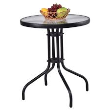 Round outdoor table Grey Amazoncom Tangkula 24 Amazoncom Amazoncom Tangkula 24