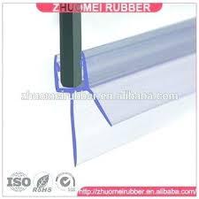 drip rail for shower door shower door seal in l for 3 8 glass 5 sweep
