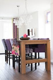 purple dining chairs dining room contemporary with bright colors crushed velvet image by louise de miranda