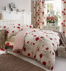 wild poppies multi duvet cover set with matching curtains duvet covers with pillow case