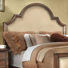 Amazing Wood And Upholstered Headboard Wood Trimmed Upholstered