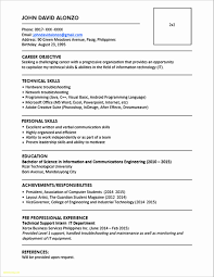 Resume Format Philippines Free Download Elegant 23 Resume Format For