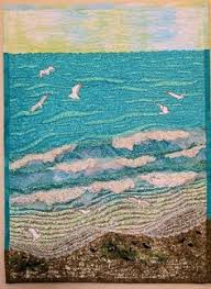 ocean quilt Would love something like this without seagulls ... & ocean quilt Would love something like this without seagulls Adamdwight.com
