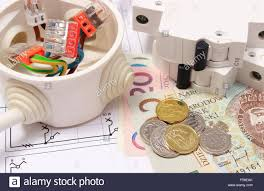 fuse box house stock photos fuse box house stock images alamy copper wire connections in electrical box electric fuse and money on construction drawing of house