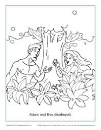 Small Picture Adam and Eve Disobeyed Coloring Page