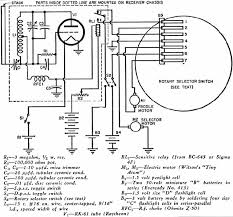 model boat for the 27 mc citizens band 1953 radio wiring diagram of the receiver motors and selector switch contact fingers airplanes and
