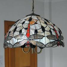 stain glass hanging light chandelier lighting lampe vintage stained glass hanging light living room dragonfly pattern stain glass