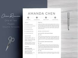 Etsy Resume Template Unique Delightful Etsy Resume Templates Template Of Clean Professional