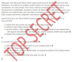 How To Create Watermarks In Microsoft Word 2010 Itproportal