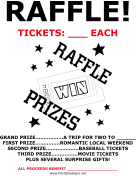 raffle sign fundraiser and raffle signs
