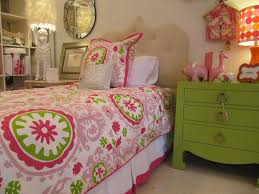 Beautiful Green and Pink Girly Bedroom