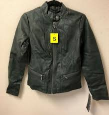 bernardo women s faux leather moto style jacket army green size variation
