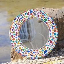 colorful glitter irregular mosaic beads 120 pcs diy glass mosaic tiles for craft garden aquarium home