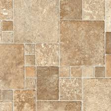 trafficmaster sandstone mosaic 12 ft wide vinyl sheet