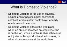 Ppt What Is Domestic Violence Powerpoint Presentation