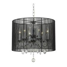 top 61 great lighting crystal chandelier pendant light with black drum shade and also chandeliers crystals