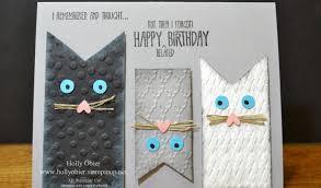 Diy Kids Birthday Card Diy Cat Birthday Card Ideas Kitty Whisperer Com