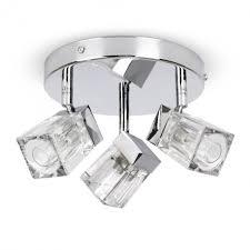 Apartments Elegant Modern Chrome Ice Cube 3 Way Bathroom Ceiling