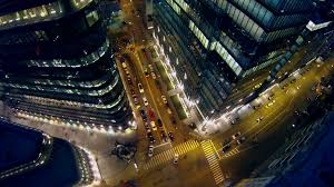 office centre video. Office Centre Video. Traffic On Crossroad Near Modern White Square Stock Video Footage R