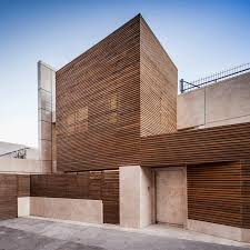 Residential Timber Design Inward Facing Iranian Home Lets Light Filter In Through A