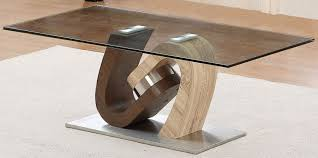 3 exclusive torino walnut and oak coffee table with glass top