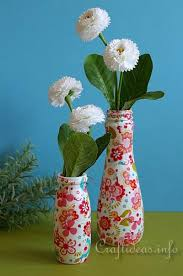 Decorated Plastic Bottles Spring Decoration Recycling or Upcycling Craft Colorful Vases 23